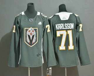 Youth Vegas Golden Knights #71 William Karlsson Gray Dia De Los Muertos Adidas Jersey