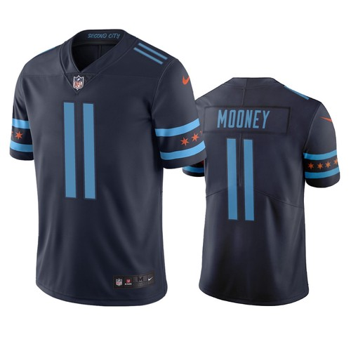 Men's Chicago Bears #11 Darnell Mooney City Edition Navy Jersey