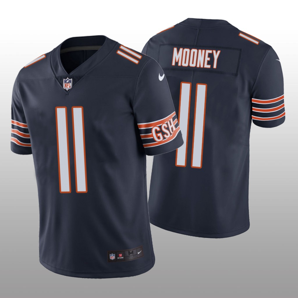 Men's Chicago Bears #11 Darnell Mooney Navy Jersey Vapor Limited