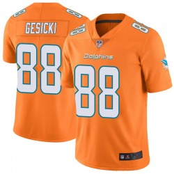 Men's Miami Dolphins #88 Mike Gesicki Limited Orange Color Rush Jersey