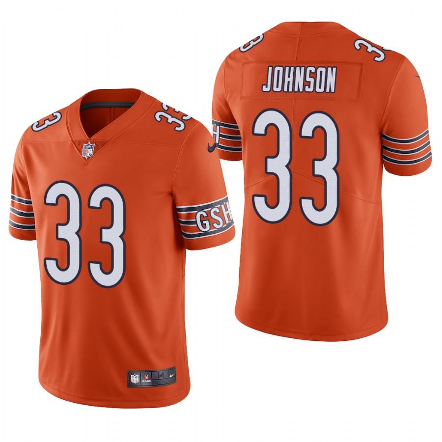 Men's Chicago Bears #33 Jaylon Johnson Orange Vapor Limited 2020 NFL Draft Jersey
