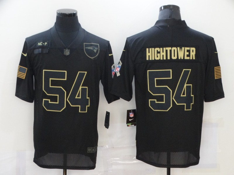 Men's New England Patriots #54 Dont'a Hightower Black 2020 Salute To Service Stitched NFL Nike Limited Jersey