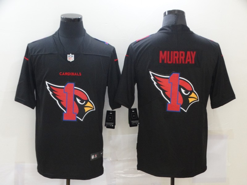Men's Arizona Cardinals #1 Kyler Murray Black 2020 Shadow Logo Vapor Untouchable Stitched NFL Nike Limited Jersey