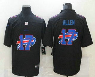Men's Buffalo Bills #17 Josh Allen Black 2020 Shadow Logo Vapor Untouchable Stitched NFL Nike Limited Jersey