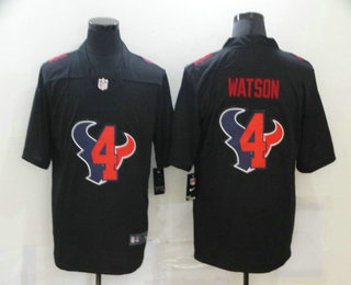 Men's Houston Texans #4 Deshaun Watson Black 2020 Shadow Logo Vapor Untouchable Stitched NFL Nike Limited Jersey