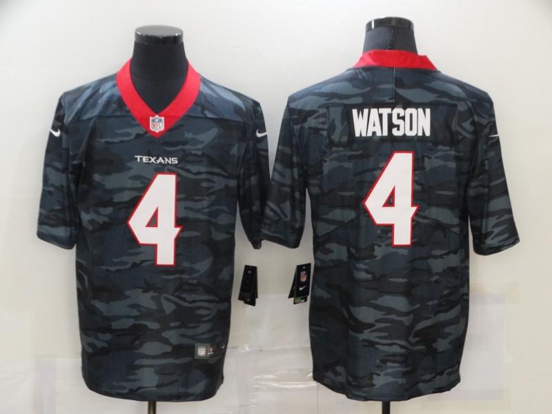 Men's Houston Texans #4 Deshaun Watson 2020 Camo Limited Stitched Nike NFL Jersey