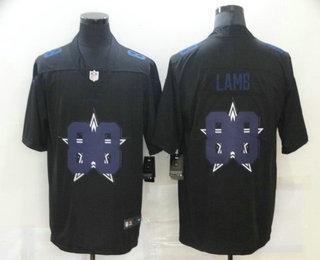Men's Dallas Cowboys #88 CeeDee Lamb Black 2020 Shadow Logo Vapor Untouchable Stitched NFL Nike Limited Jersey