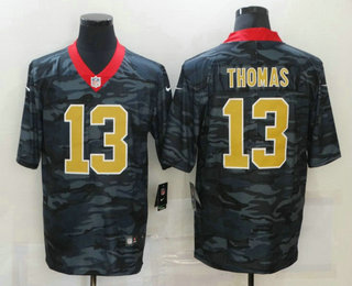 Men's New Orleans Saints #13 Michael Thomas 2020 Camo Limited Stitched Nike NFL Jersey