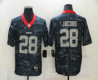 Men's Las Vegas Raiders #28 Josh Jacobs 2020 Camo Limited Stitched Nike NFL Jersey