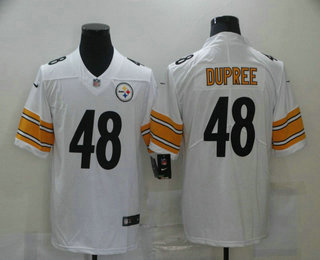 Men's Pittsburgh Steelers #48 Bud Dupree White 2017 Vapor Untouchable Stitched NFL Nike Limited Jersey
