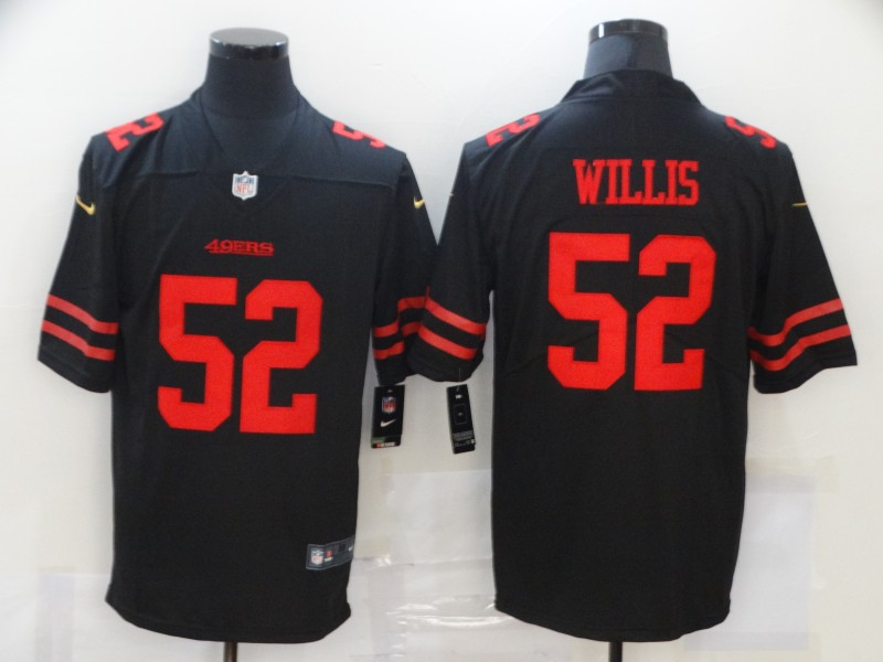 Men's San Francisco 49ers #52 Patrick Willis Black 2017 Vapor Untouchable Stitched NFL Nike Limited Jersey