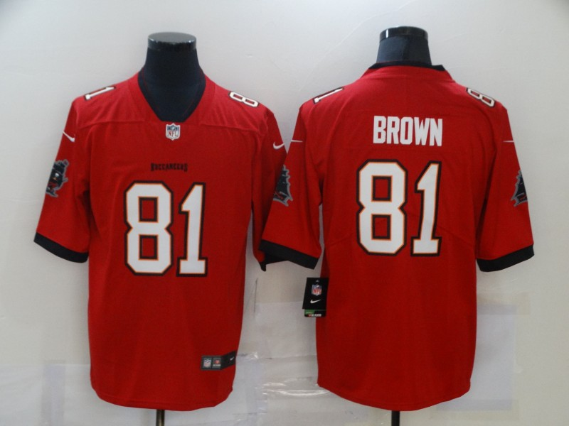 Men's Tampa Bay Buccaneers #81 Antonio Brown Red 2020 NEW Vapor Untouchable Stitched NFL Nike Limited Jersey