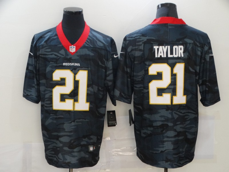 Men's Washington Redskins #21 Sean Taylor 2020 Camo Limited Stitched Nike NFL Jersey