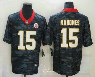 Men's Kansas City Chiefs #15 Patrick Mahomes 2020 Camo Limited Stitched Nike NFL Jersey