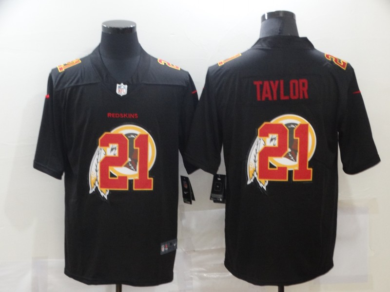 Men's Washington Redskins #21 Sean Taylor Black 2020 Shadow Logo Vapor Untouchable Stitched NFL Nike Limited Jersey