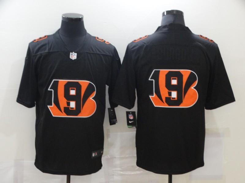 Men's Cincinnati Bengals #9 Joe Burrow Black 2020 Shadow Logo Vapor Untouchable Stitched NFL Nike Limited Jersey