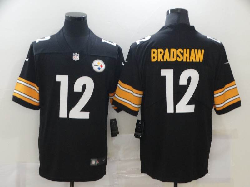 Men's Pittsburgh Steelers #12 Terry Bradshaw Black 2017 Vapor Untouchable Stitched NFL Nike Limited Jersey