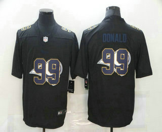 Men's Los Angeles Rams #99 Aaron Donald Black 2020 Shadow Logo Vapor Untouchable Stitched NFL Nike Limited Jersey