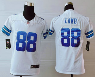 Youth Dallas Cowboys #88 CeeDee Lamb White 2020 NEW Vapor Untouchable Stitched NFL Nike Limited Jersey