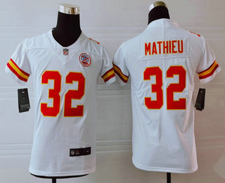 Youth Kansas City Chiefs #32 Tyrann Mathieu White 2017 Vapor Untouchable Stitched NFL Nike Limited Jersey
