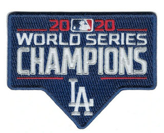 2020 MLB World Series Champions Jersey Patch Los Angeles Dodgers