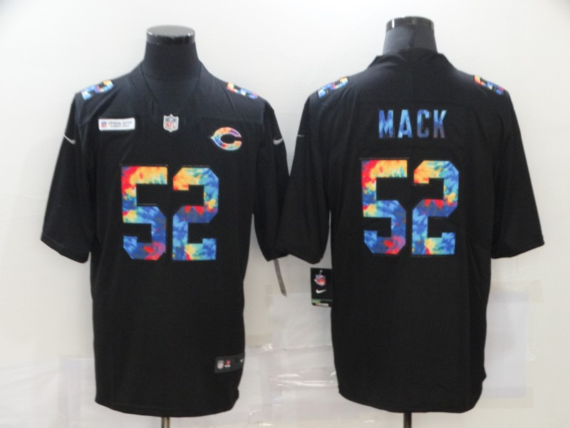 Men's Chicago Bears #52 Khalil Mack Multi-Color Black 2020 NFL Crucial Catch Vapor Untouchable Nike Limited Jersey