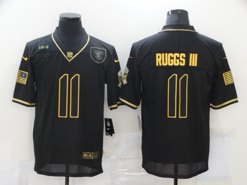 Men's Las Vegas Raiders #11 Henry Ruggs III Black Gold 2020 Salute To Service Stitched NFL Nike Limited Jersey