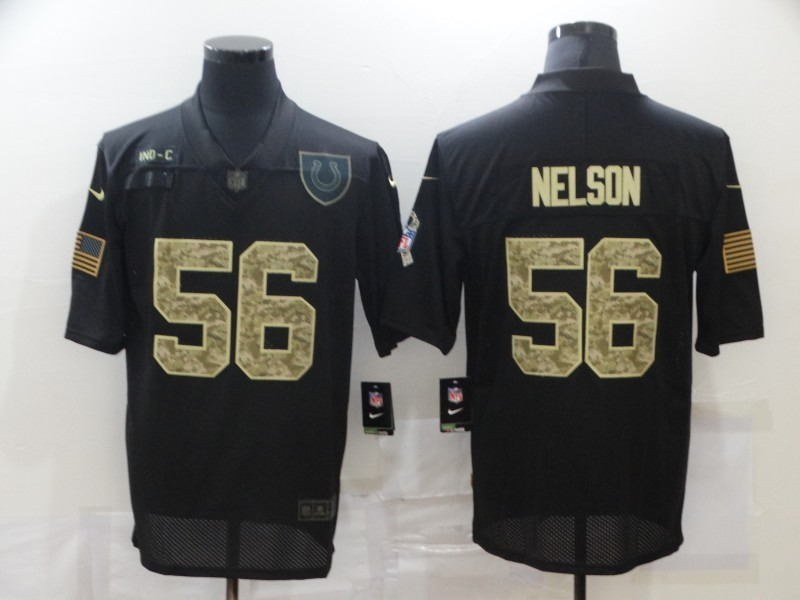 Men's Indianapolis Colts #56 Quenton Nelson Black Camo 2020 Salute To Service Stitched NFL Nike Limited Jersey