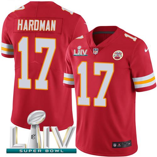 Nike Chiefs #17 Mecole Hardman Red Super Bowl LIV 2020 Team Color Men's Stitched NFL Vapor Untouchable Limited Jersey