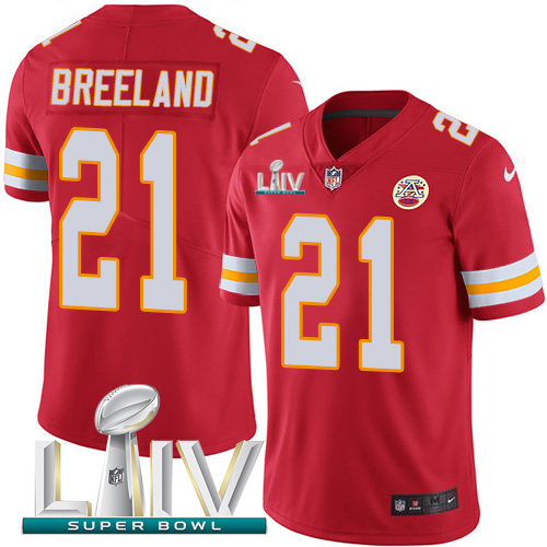 Nike Chiefs #21 Bashaud Breeland Red Super Bowl LIV 2020 Team Color Men's Stitched NFL Vapor Untouchable Limited Jersey