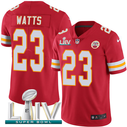 Nike Chiefs #23 Armani Watts Red Super Bowl LIV 2020 Team Color Men's Stitched NFL Vapor Untouchable Limited Jersey