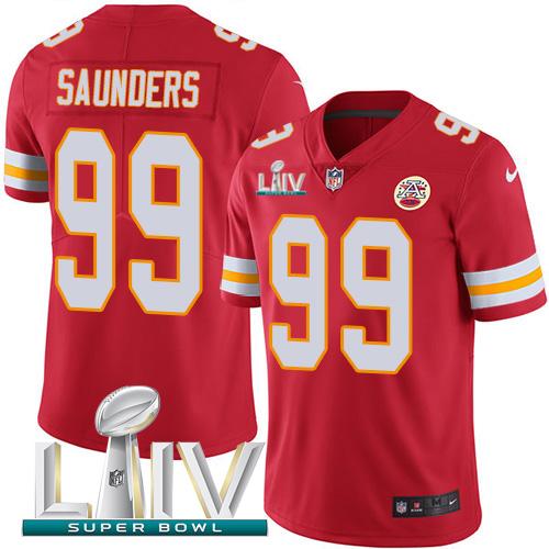 Nike Chiefs #99 Khalen Saunders Red Super Bowl LIV 2020 Team Color Men's Stitched NFL Vapor Untouchable Limited Jersey