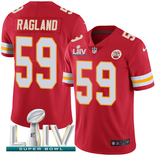 Nike Chiefs #59 Reggie Ragland Red Super Bowl LIV 2020 Team Color Youth Stitched NFL Vapor Untouchable Limited Jersey
