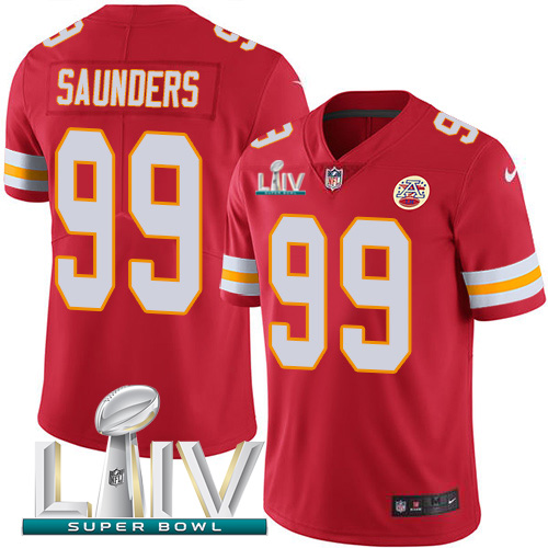 Nike Chiefs #99 Khalen Saunders Red Super Bowl LIV 2020 Team Color Youth Stitched NFL Vapor Untouchable Limited Jersey