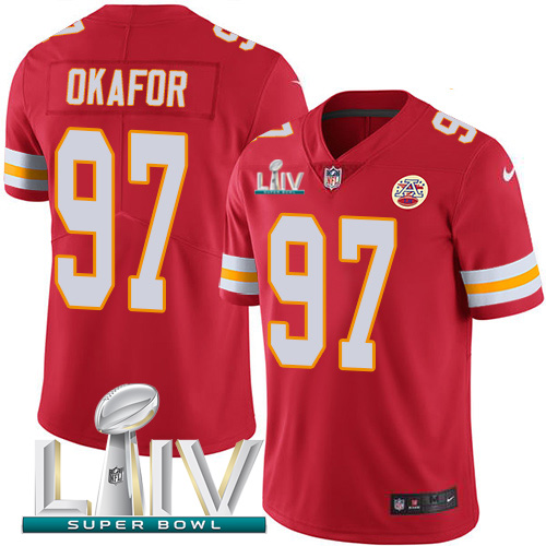 Nike Chiefs #97 Alex Okafor Red Super Bowl LIV 2020 Team Color Youth Stitched NFL Vapor Untouchable Limited Jersey