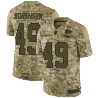 Men's Kansas City Chiefs #49 Daniel Sorensen 2018 Salute to Service Jersey - Limited Camo