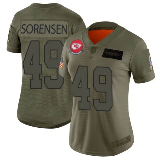 Women's Kansas City Chiefs #49 Daniel Sorensen 2019 Salute to Service Jersey - Limited Camo
