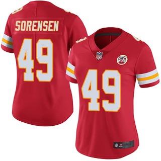 Women's Kansas City Chiefs #49 Daniel Sorensen Team Color Vapor Untouchable Jersey - Limited Red