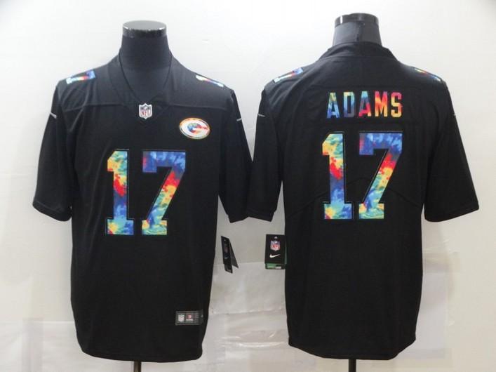 Men's Green Bay Packers #17 Davante Adams Multi-Color Black 2020 NFL Crucial Catch Vapor Untouchable Nike Limited Jersey