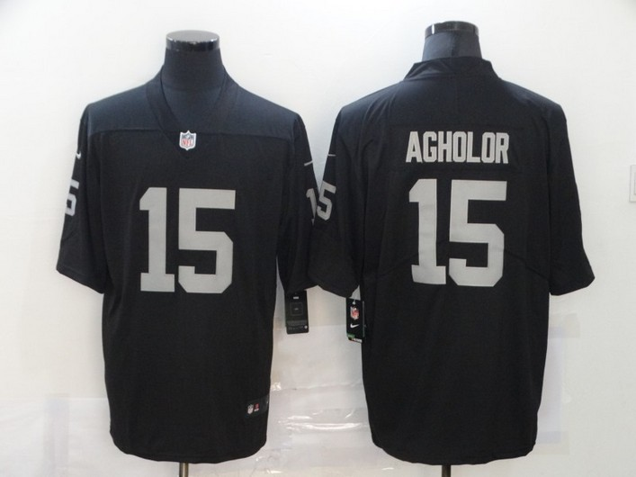 Men's Las Vegas Raiders #15 Nelson Agholor Black 2017 Vapor Untouchable Stitched NFL Nike Limited Jersey