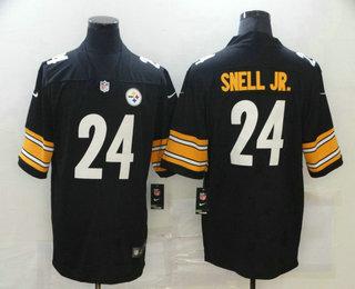 Men's Pittsburgh Steelers #24 Benny Snell Jr. Black 2017 Vapor Untouchable Stitched NFL Nike Limited Jersey