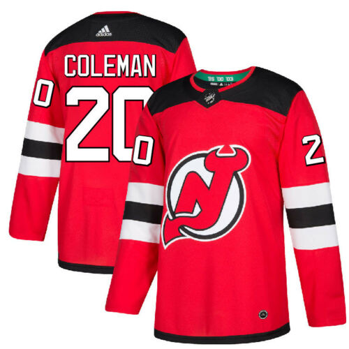 Men's New Jersey Devils #20 Blake Coleman Home Red Adidas Authentic Jersey
