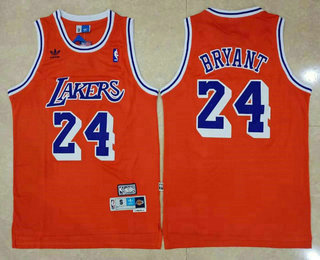Men's Los Angeles Lakers #24 Kobe Bryant Red Swingman Stitched NBA Throwback Jersey
