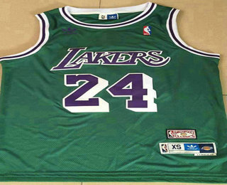 Men's Los Angeles Lakers #24 Kobe Bryant Green Hardwood Classics Soul Swingman Throwback Jersey