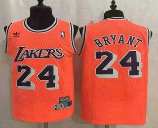 Men's Los Angeles Lakers #24 Kobe Bryant Orange Hardwood Classics Soul Swingman Throwback Jersey