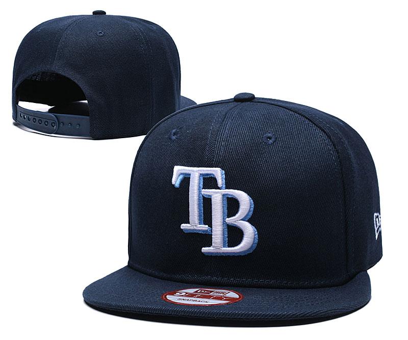 MLB Tampa Bay Rays Navy Blue Snapback