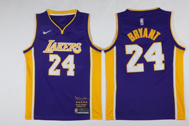 Lakers 24 kobe Bryant Purple Black Mamba Nike Swingman Jersey on ...