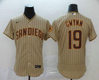 Men's San Diego Padres #19 Tony Gwynn Gray Stitched MLB Flex Base Nike Jersey