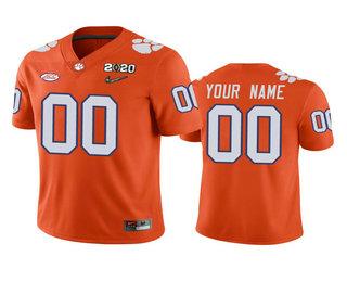 Men's Clemson Tigers Custom Orange 2020 National Championship Game Jersey