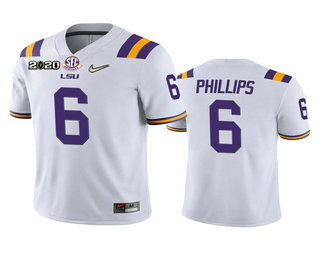 Jacob Phillps LSU Tigers Football Jersey - White